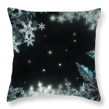 Moonlight Snow Burial Throw Pillow