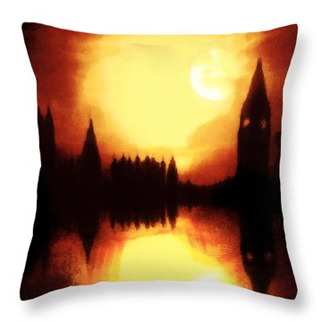 Throw Pillow featuring the digital art Moonlight-sonata  by Fine Art By Andrew David