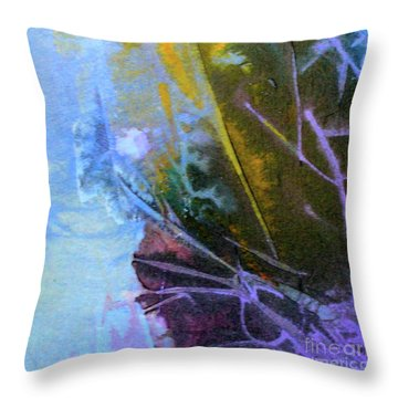 Throw Pillow featuring the painting Moonlight Sonata by Mary Sullivan