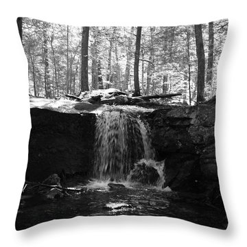 Moonlight Waterfall Throw Pillow