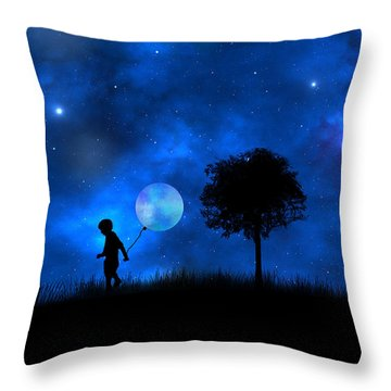 Moonlight Shadow Throw Pillow