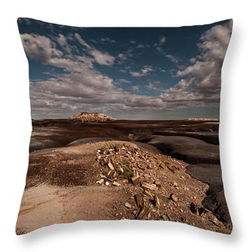 Throw Pillow featuring the photograph Moonlit Badlands by Melany Sarafis