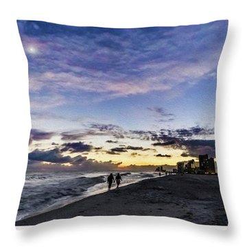Moonlit Beach Sunset Seascape 0272b1 Throw Pillow