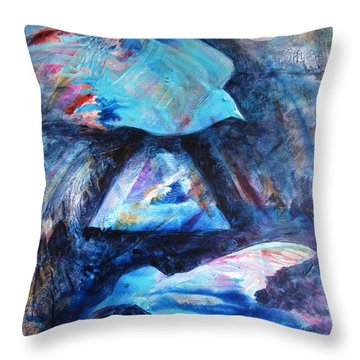 Moonlit Birds Throw Pillow by Denise Hoag