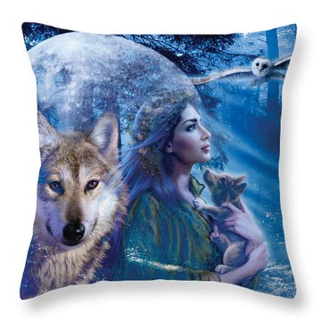 Moonlit Brethren Variant 1 Throw Pillow by Andrew Farley