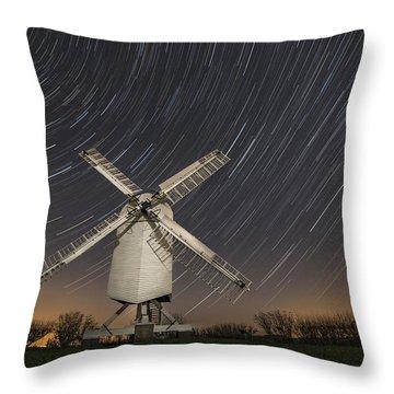 Moonlit Chillenden Windmill Throw Pillow