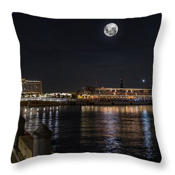 Moonlit Disney Contemporary Resort Throw Pillow