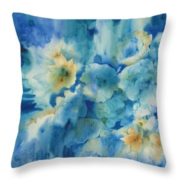 Moonlit Flowers Throw Pillow