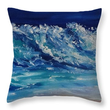 Moonlit Throw Pillow by Fred Wilson