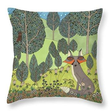 Moonlit Meadow Throw Pillow