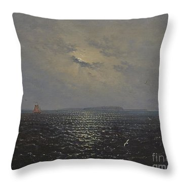 Moonlit Night By Ruegen Throw Pillow
