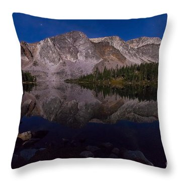 Moonlit Reflections  Throw Pillow by Steven Reed
