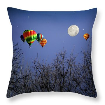 Moonlit Ride Throw Pillow