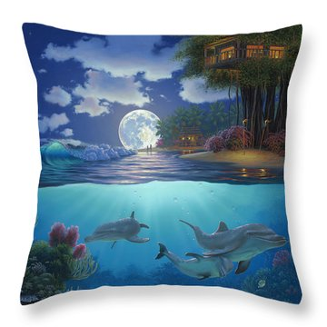 Moonlit Sanctuary Throw Pillow by Al Hogue