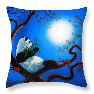 Moonlit Snack Throw Pillow