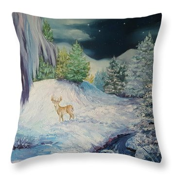 Moonlit Surprise Throw Pillow