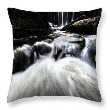Moonlit Waterfall Throw Pillow by Meirion Matthias