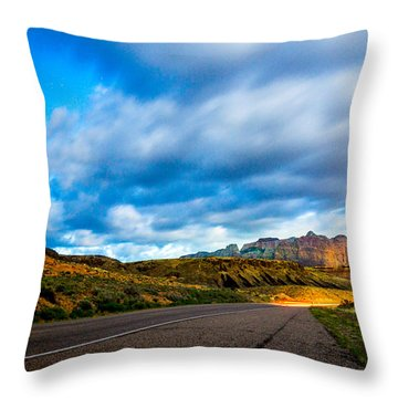 Moonlit Zion Throw Pillow