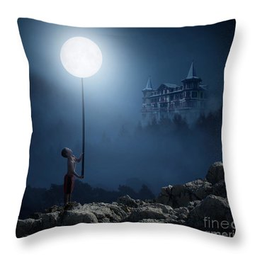 Moonplay Throw Pillow