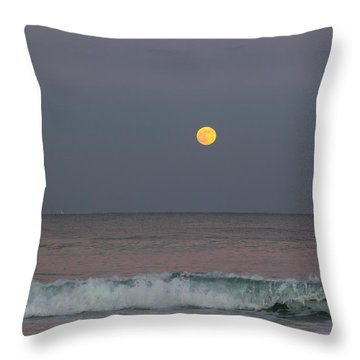 Throw Pillow featuring the photograph Moonrise At Sunset by Michelle Wiarda