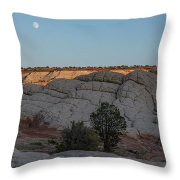 Moonrise At Sunset Throw Pillow