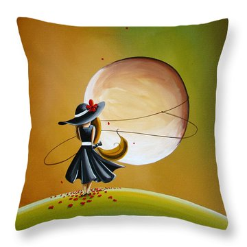 Moonrise Throw Pillow by Cindy Thornton