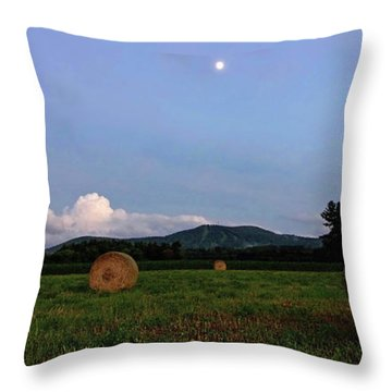 Moonrise Hayfield Throw Pillow