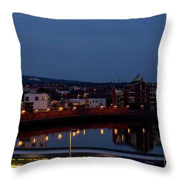 Moonrise In Belfast Throw Pillow