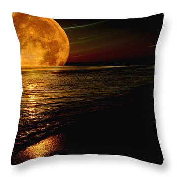 Moonrise Throw Pillow by James C Thomas