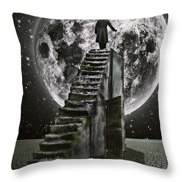 Moonrise Throw Pillow by Mihaela Pater