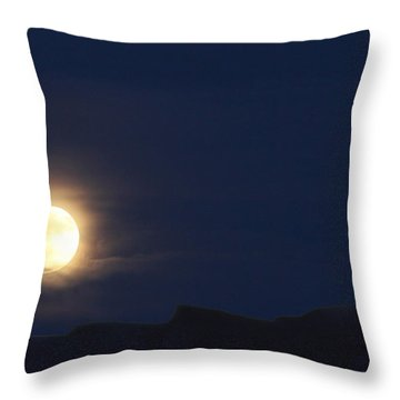 Throw Pillow featuring the photograph Moonrise On Lake Mead 2 by Marie Leslie