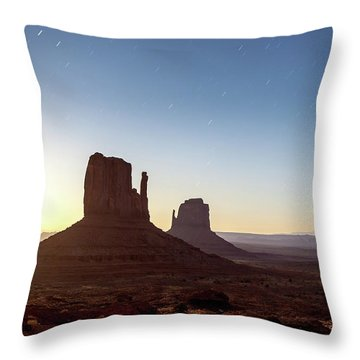 Moonrise Over Monument Valley Throw Pillow