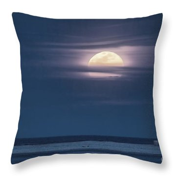 Moonrise Over North End Throw Pillow