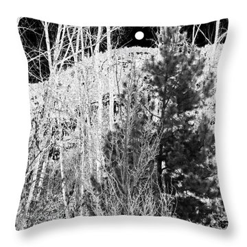 Throw Pillow featuring the digital art Moonrise Over The Mountain by Will Borden