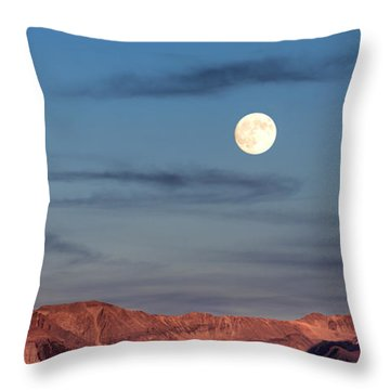 Moonrise With Afterglow Throw Pillow