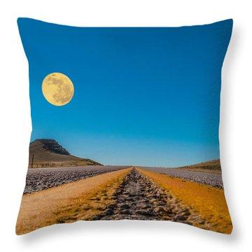 Moonrise Wyoming Throw Pillow