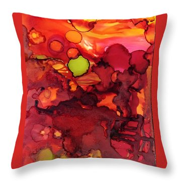 Moons Away Throw Pillow