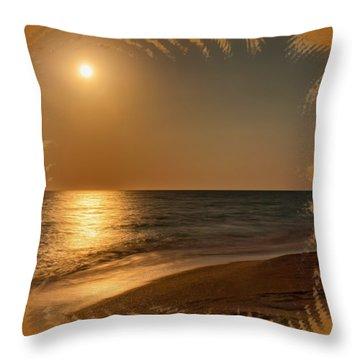 Moonscape 3 Throw Pillow