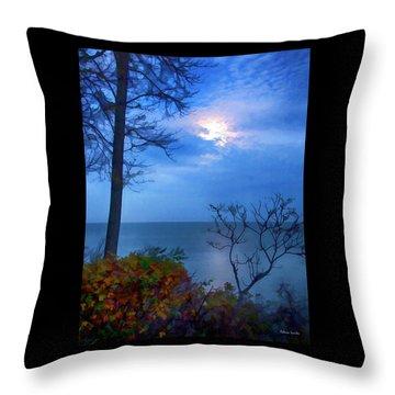 Moonset 1 Throw Pillow