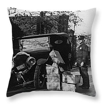Moonshine Car Chase Throw Pillow