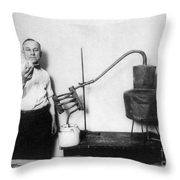 Moonshine Distillery, 1920s Throw Pillow