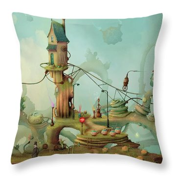 Moonshine Manor The Finest Distillery West Of The Sun Throw Pillow