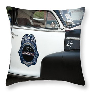 Moonshine Patrol Throw Pillow by DigiArt Diaries by Vicky B Fuller