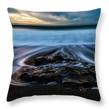Moonstone Beach In The New Year Throw Pillow