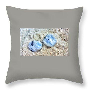 Moonstones Throw Pillow by Rachel Hannah