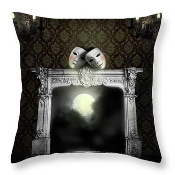 Moonstruck Throw Pillow by Larry Butterworth