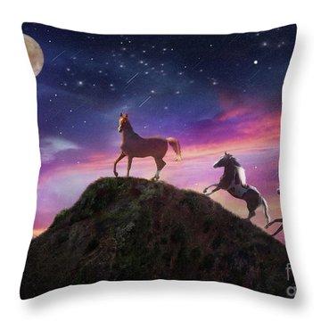 Throw Pillow featuring the photograph Moonstruck by Melinda Hughes-Berland