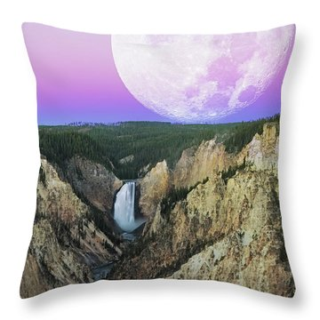 My Purple Dream Throw Pillow by Edgars Erglis