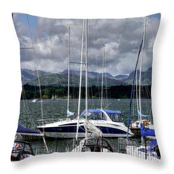 Moored In Beauty Throw Pillow