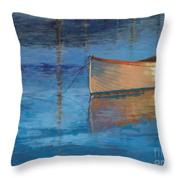 Moored In Light-sold Throw Pillow